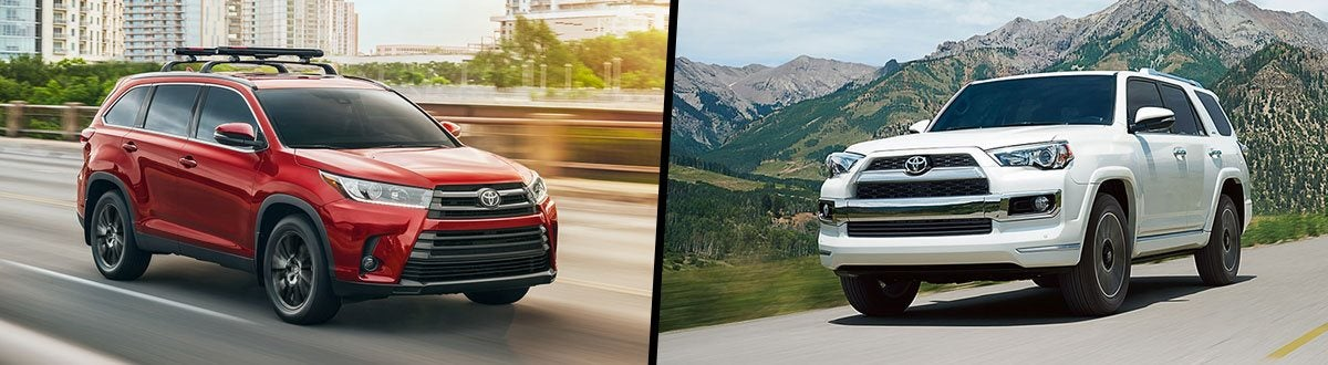Toyota Highlander Vs Toyota 4Runner >> Compare 2018 Toyota Highlander Vs 2018 Toyota 4runner